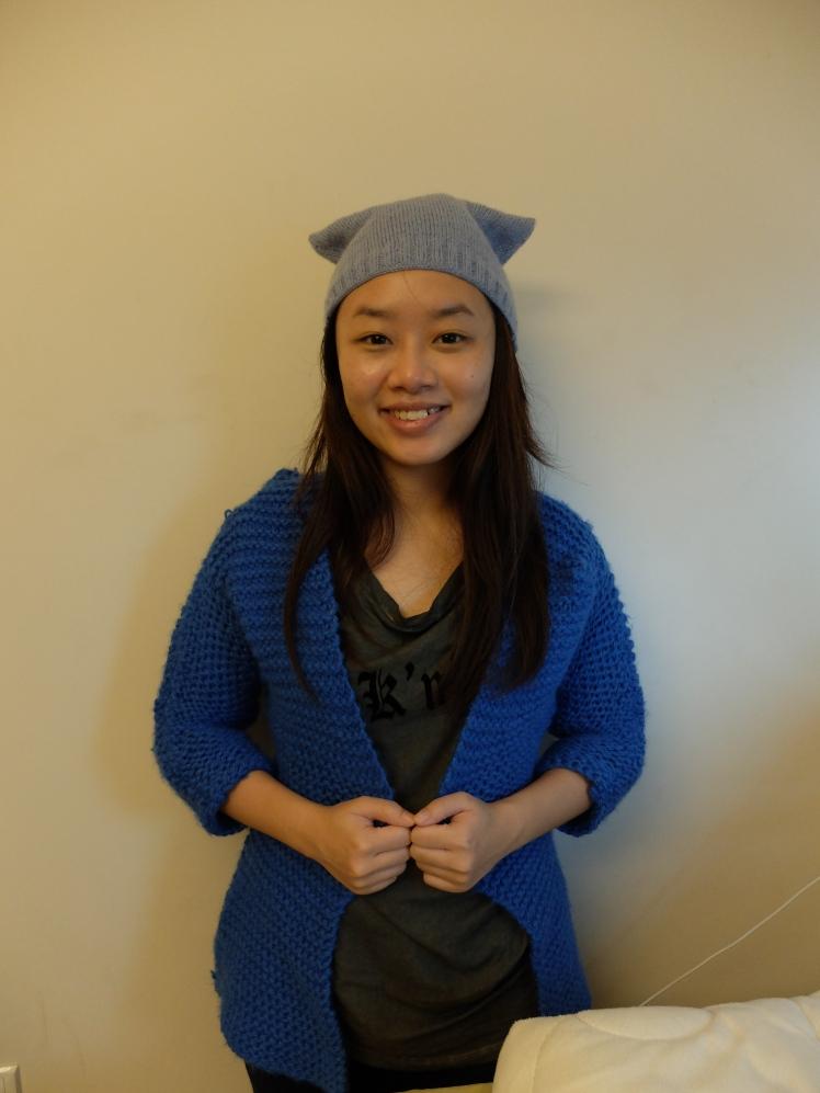 謝謝khoon織給我們的毛衣和毛帽 ^_^