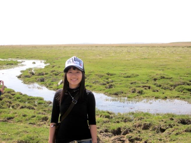 草原上的河!