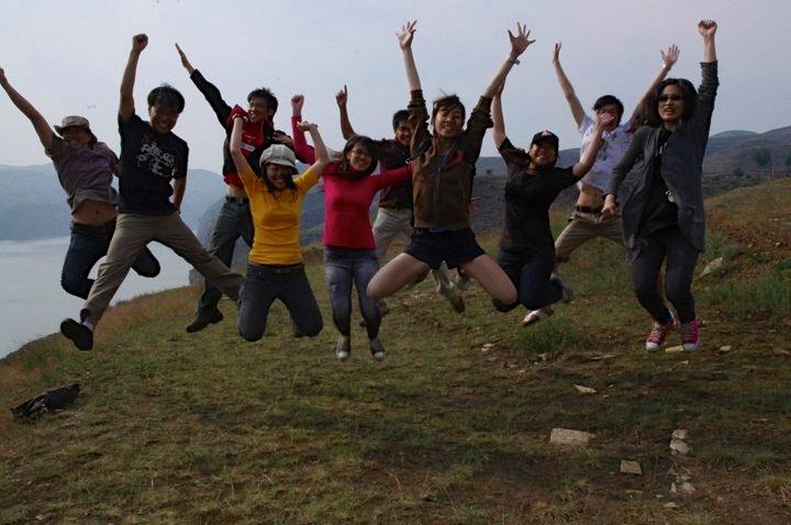 跳躍成功!