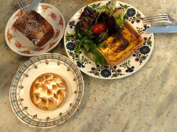 Apple Cobbler / Bacon Quiche / Passionfruit Meringue Tart