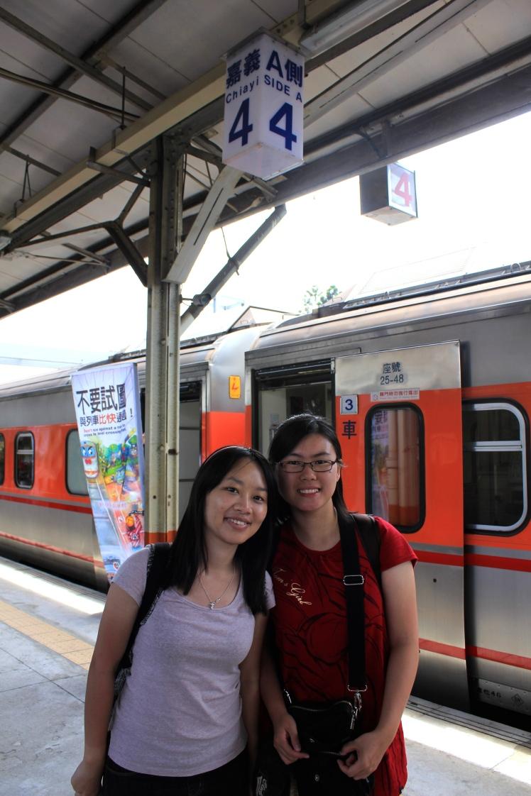 其實忘了是嘉義還是高雄的火車站