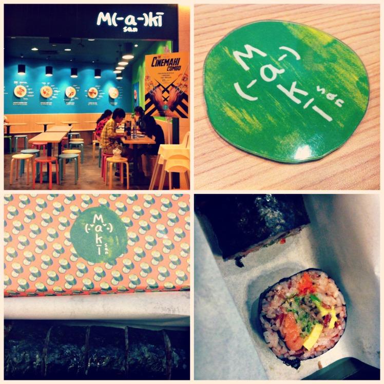 週二菜單: Maki-san: DIY 糙米鮭魚蘑菇黃瓜蛋捲壽司 XD